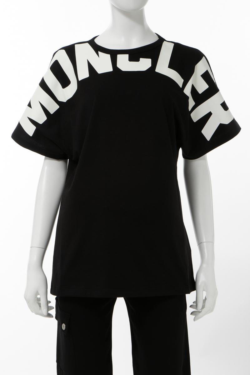モンクレール MONCLER Tシャツ 半袖 丸首 クルーネック レディース 8C70710 V8094 ブラック 送料無料 楽ギフ_包装 2020年春夏新作 2004値下
