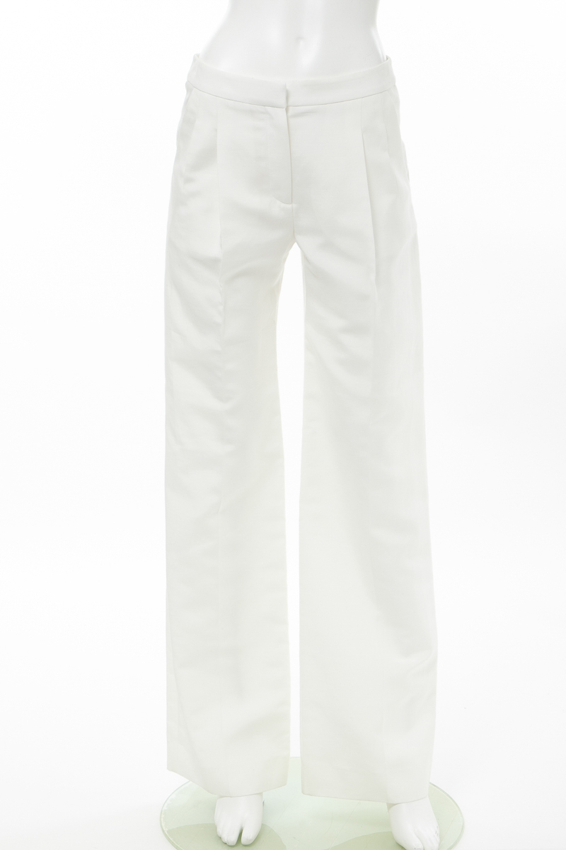 バレンシアガ BALENCIAGA パンツ ワイドパンツ レディース 287523 TAD69 ホワイト 送料無料 楽ギフ_包装