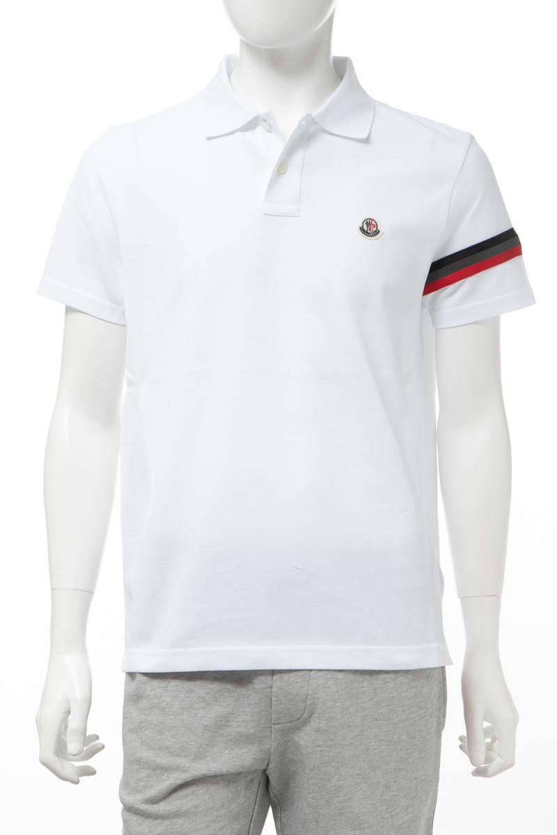 モンクレール MONCLER ポロシャツ 半袖 メンズ 8A70900 84556 ホワイト 送料無料 2020年春夏新作 2020SS_SALE