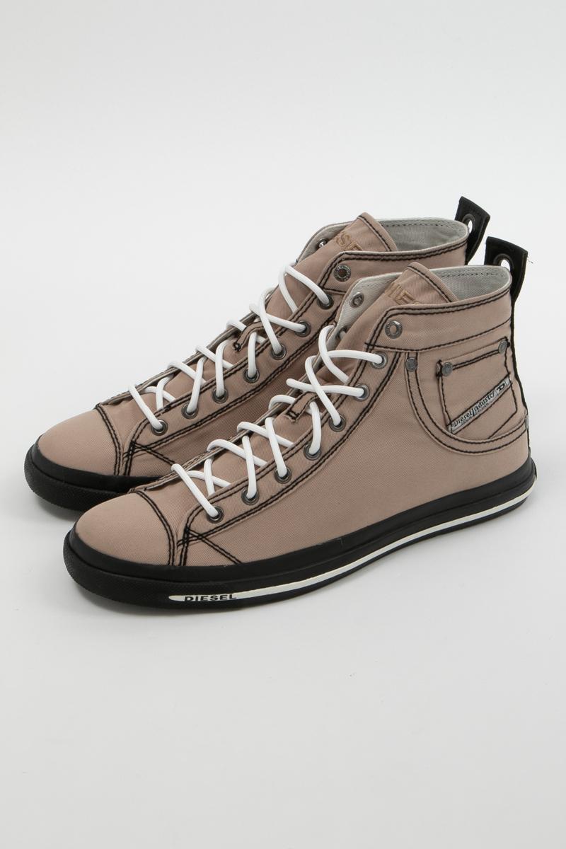 ディーゼル DIESEL スニーカー ハイカット シューズ 靴 EXPOSURE I - sneaker mid メンズ Y00023 P0465 ブラウン 送料無料 楽ギフ_包装