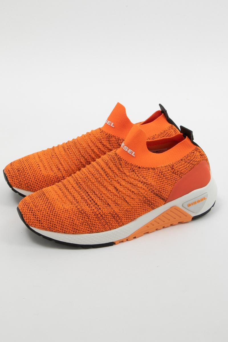 ディーゼル DIESEL スニーカー ローカット シューズ 靴 S-KB ATHL SOCK - sneakers メンズ Y01881 P2199 オレンジ 送料無料 楽ギフ_包装