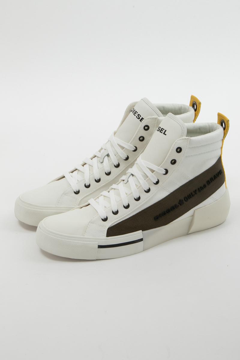 ディーゼル DIESEL スニーカー ハイカット シューズ 靴 S-DESE MC - sneaker mid メンズ Y01914 P2165 ホワイト 送料無料 楽ギフ_包装