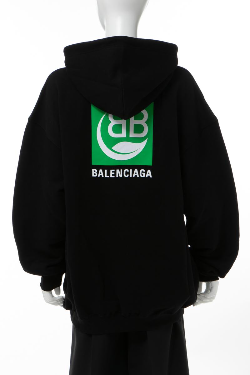 バレンシアガ BALENCIAGA トレーナー スウェットパーカー フーディー オーバーサイズ レディース 578135 THV64 ブラック 送料無料 楽ギフ_包装 2020年春夏新作