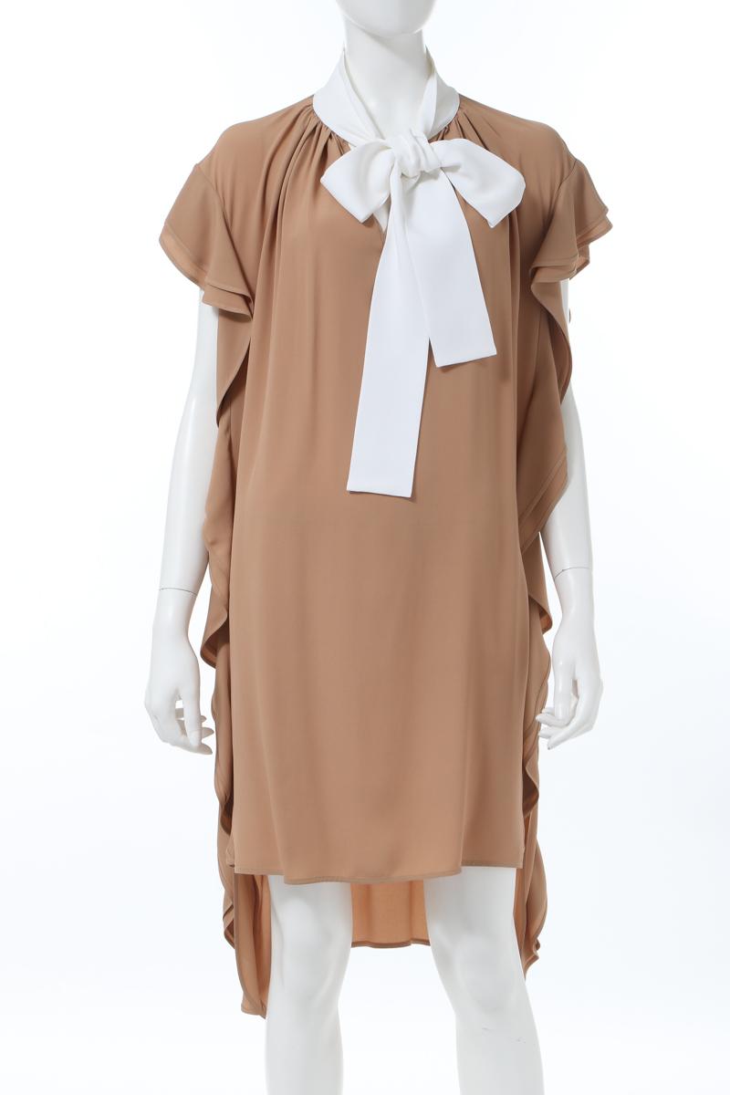 ヌメロヴェントゥーノ N°21 ワンピース ドレス ノースリーブ レディース H041 5111 ベージュ 送料無料 楽ギフ_包装