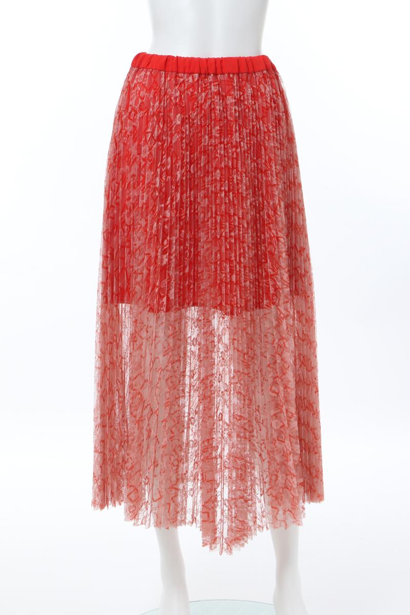 ピンコ PINKO スカート プリーツスカート レディース 07142 レッド 送料無料 楽ギフ_包装