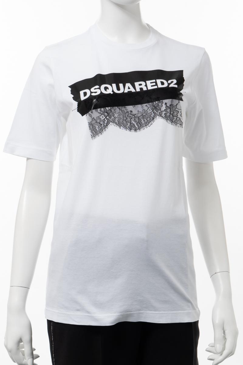 ディースクエアード DSQUARED2 Tシャツ 半袖 丸首 クルーネック レディース S75GC0981S22427 ホワイト 送料無料 楽ギフ_包装