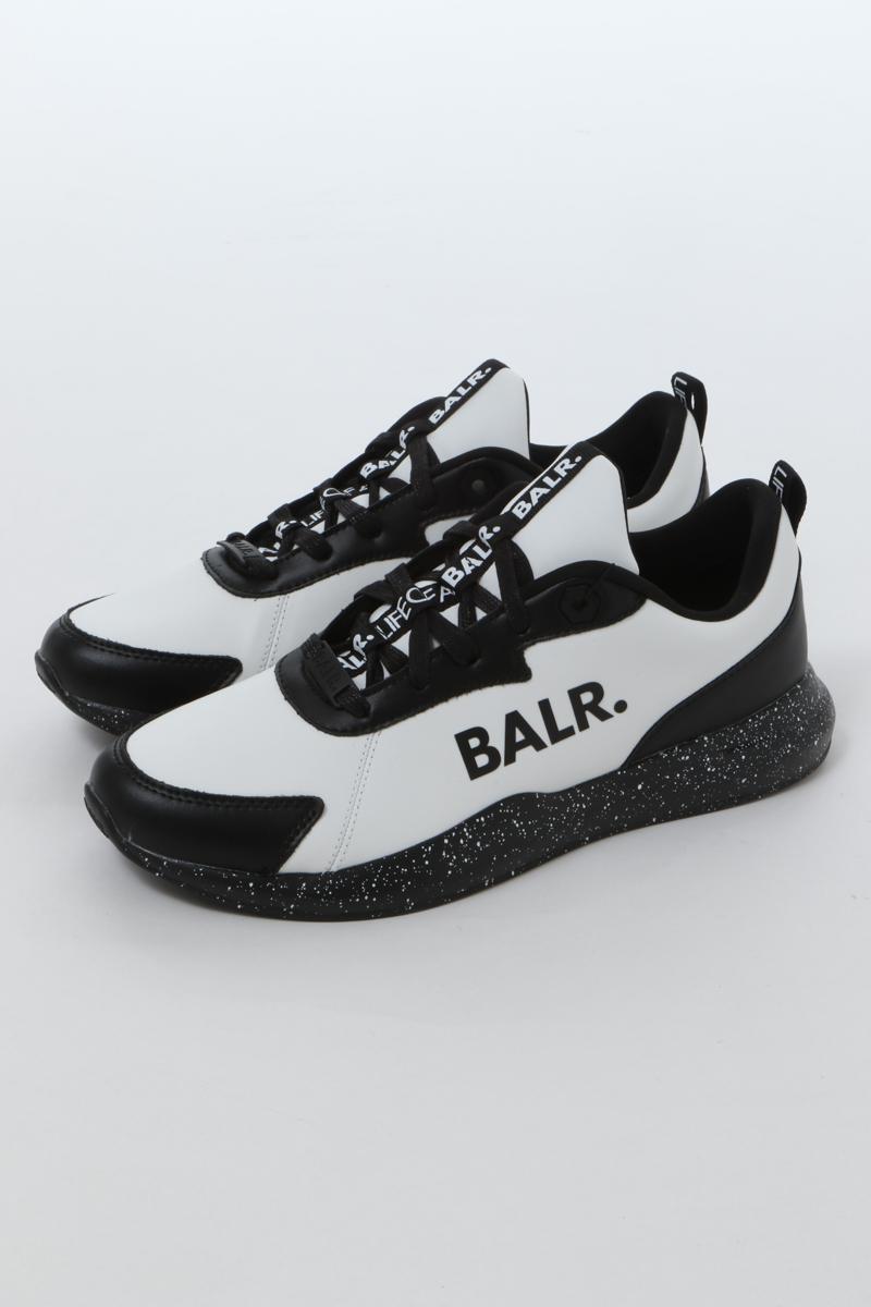 ボーラー BALR. スニーカー ローカット シューズ 靴 BLACK WHITE FUTURE メンズ B10164 ブラック×ホワイト 送料無料 楽ギフ_包装 2020年春夏新作