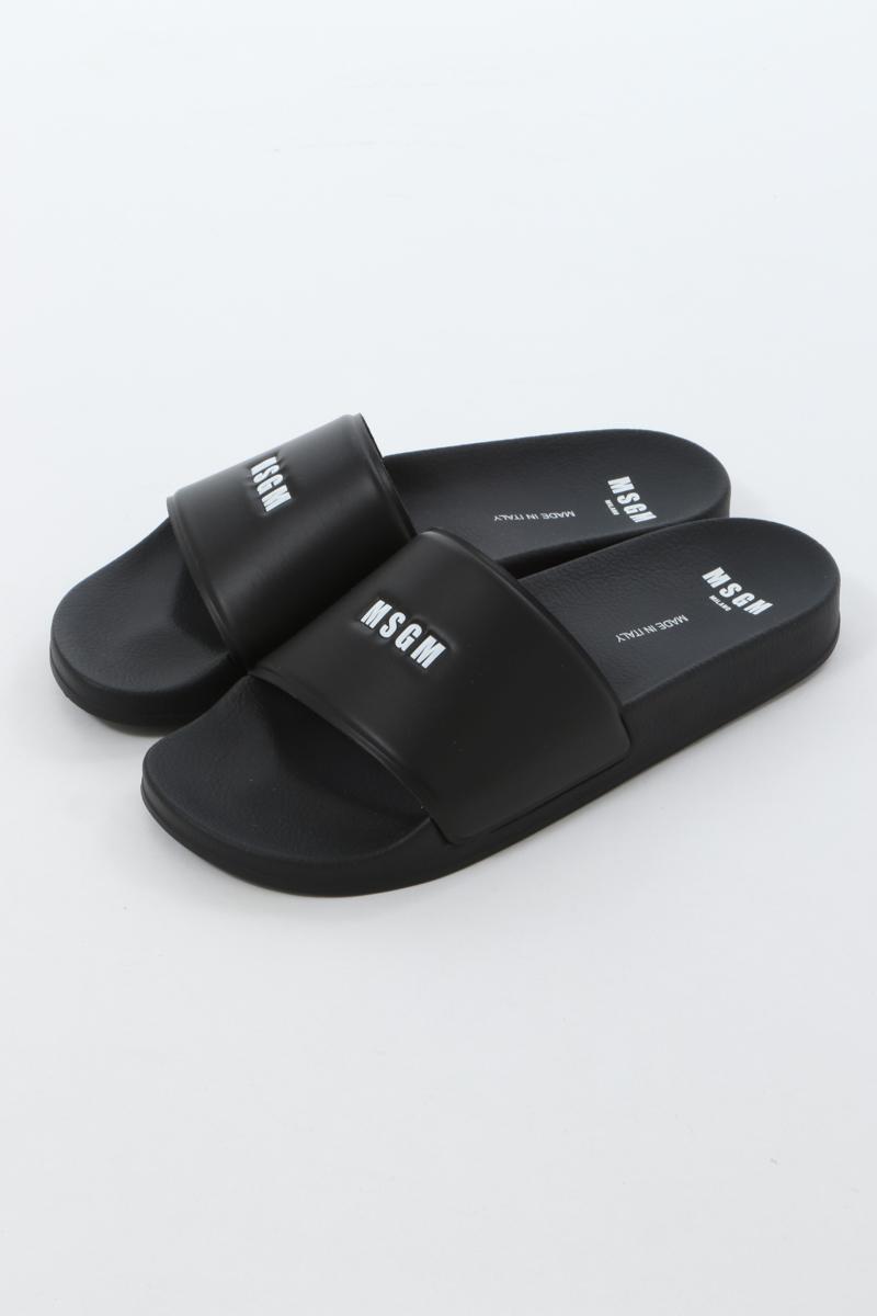 エムエスジーエム MSGM サンダルシャワーサンダル 靴 メンズ 2840MS15208 732 ブラック 送料無料 楽ギフ_包装 2020年春夏新作