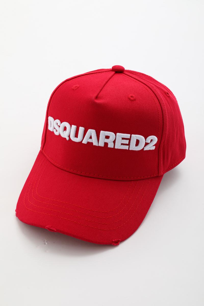 ディースクエアード DSQUARED2 ベースボールキャップ 帽子 限定価格セール BCM002805C00001 2021SS_SALE レッド 楽ギフ_包装 送料無料 目玉商品 公式ストア