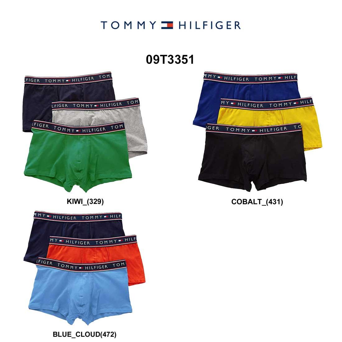 (SALE)TOMMY HILFIGER(トミーヒルフィガー)ショート ボクサーパンツ 3枚セット メンズ 下着 2019春夏 09T3351