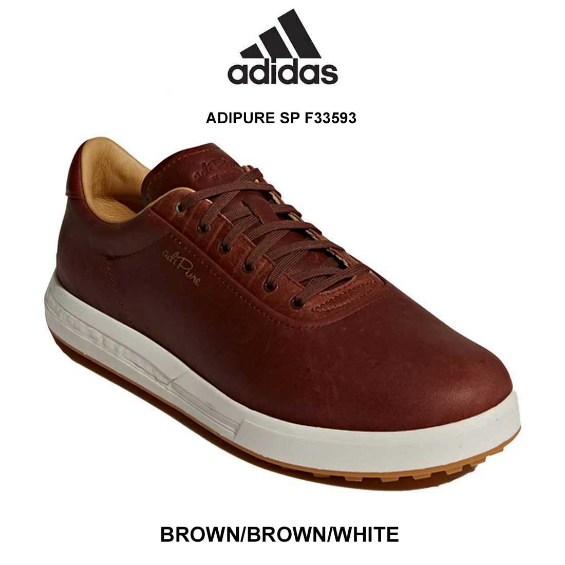 adidas(アディダス)ゴルフシューズ レザー スパイクレス メンズ ADIPURE SP F33593