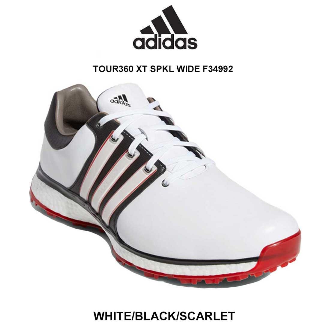 adidas(アディダス)ゴルフシューズ レザー スパイクレス 幅(W) メンズ TOUR360 XT SPKL WIDE F34992