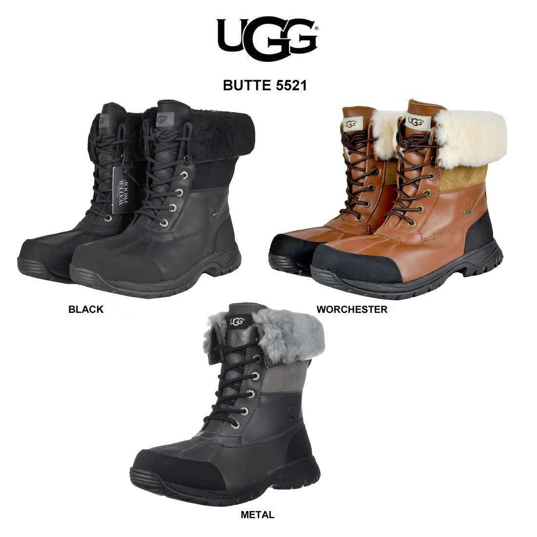 (SALE)UGG(アグ)メンズ ブーツ 最高級 シープスキン ブッテ BUTTE 5521