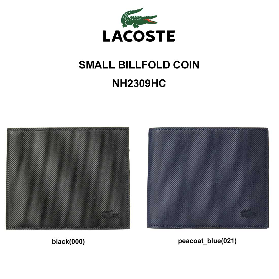ae0efd4e92ad NH2309HC COIN BILLFOLD SMALL メンズ 本革 小銭入れ付き LACOSTE ...