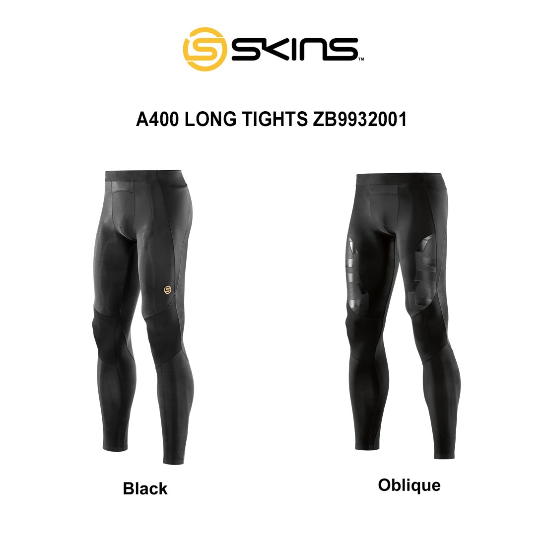 SKINS(スキンズ)ロングタイツ コンプレッション メンズ A400 LONG TIGHTS ZB9932001