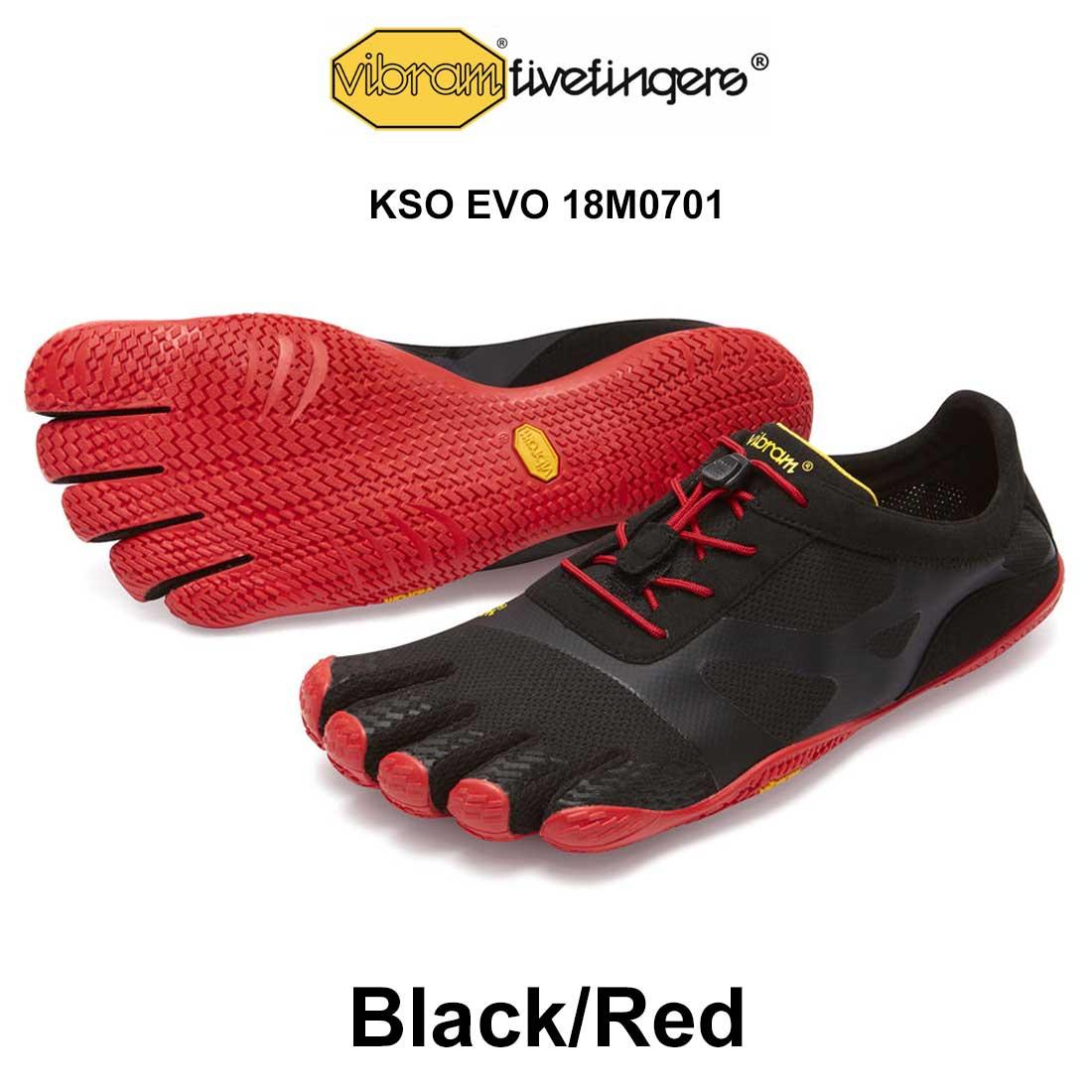 送料無料 登山 ランニング ウォーキングに最適 Vibram FiveFingers(ビブラムファイブフィンガーズ)メンズ 五本指 シューズ KSO EVO 18M0701