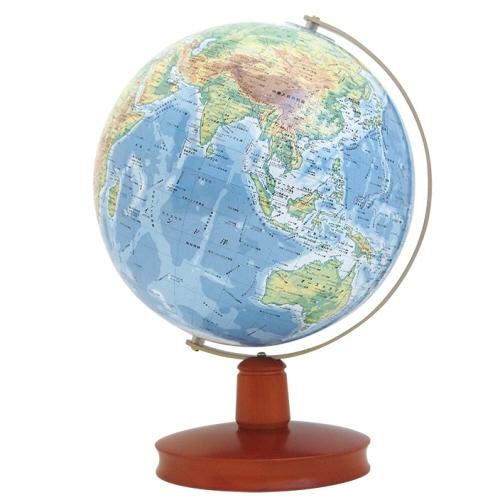 卓上地球儀WB23cm地勢木台