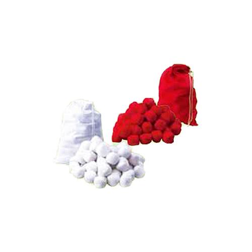 【販売品】玉入れ用紅白玉 100個セット (紅白各50個) 塩ビ