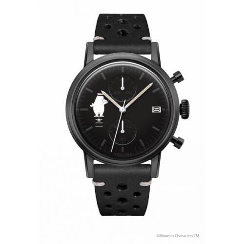 腕時計 メンズ レディース ムーミン ムーミンパパ UNDONE 送料無料 【SEIKOムーブメント搭載 クォーツ ケースブラック 文字盤 ブラック ラリーブラック】