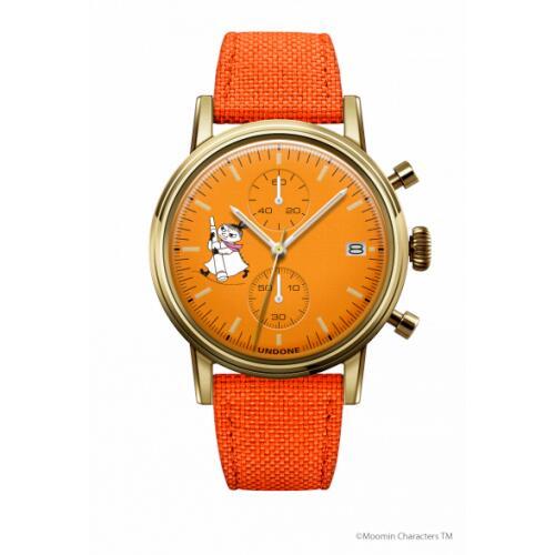 腕時計 メンズ レディース ムーミン リトルミイ2 UNDONE 送料無料 【SEIKOムーブメント搭載 クォーツ ケース ゴールド 文字盤 オレンジ コーデュラ オレンジ】