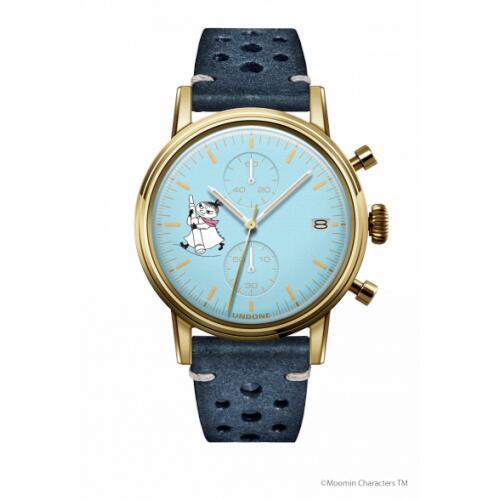 腕時計 メンズ レディース ムーミン リトルミイ2 UNDONE 送料無料 【SEIKOムーブメント搭載 クォーツ ケースゴールド 文字盤ブルー ラリーブルー】