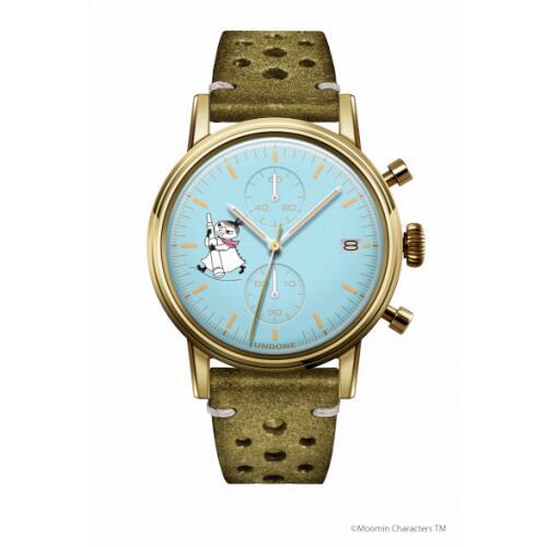 腕時計 メンズ レディース ムーミン リトルミイ2 UNDONE 送料無料 【SEIKOムーブメント搭載 クォーツ ケースゴールド 文字盤ブルー ラリーグリーン】