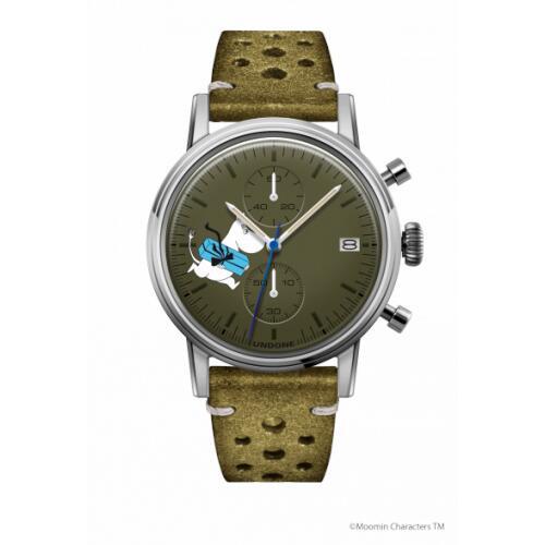 【送料無料】腕時計 メンズ レディース ムーミン ムーミントロール UNDONE 送料無料 【SEIKOムーブメント搭載 クォーツ ケース シルバー 文字盤 カーキ ラリーグリーン】