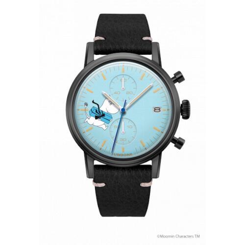 腕時計 メンズ レディース ムーミン ムーミントロール UNDONE 送料無料 【SEIKOムーブメント搭載 クォーツ ケース ブラック 文字盤 ブルー キャビアブラック】