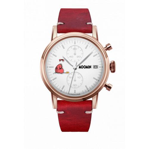 腕時計 メンズ レディース ムーミン ニンニ UNDONE X 送料無料 【SEIKOムーブメント搭載 クォーツ ケース ローズゴールド カーフ レッド】