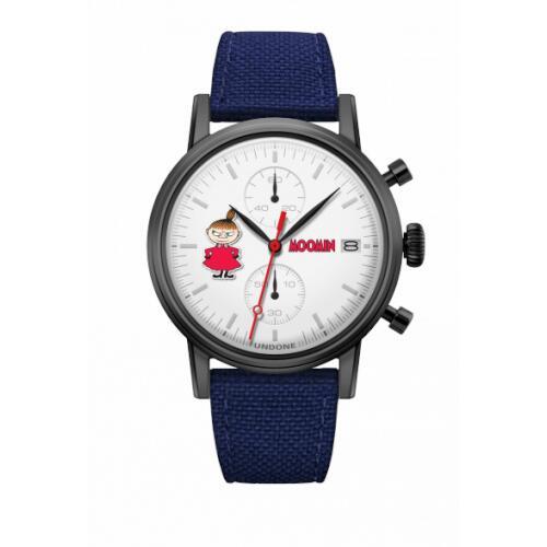 腕時計 メンズ レディース ムーミン リトルミイ UNDONE X 送料無料 【SEIKOムーブメント搭載 クォーツ ケース ブラック コーデュラ ブルー】