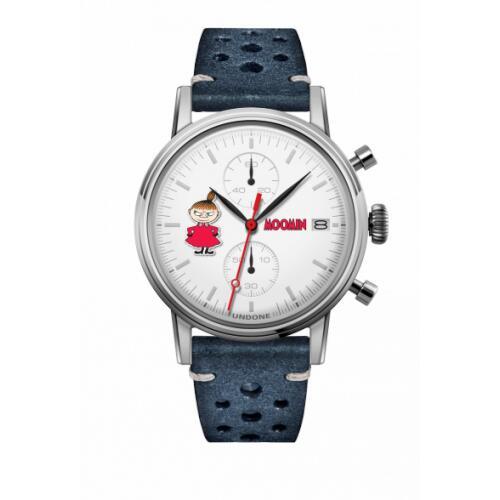 腕時計 メンズ レディース ムーミン リトルミイ UNDONE X 送料無料 【SEIKOムーブメント搭載 クォーツ ケース シルバー ラリー ブルー】