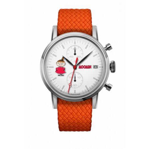 腕時計 メンズ レディース ムーミン リトルミイ UNDONE X 送料無料 【SEIKOムーブメント搭載 クォーツ ケース シルバー パーロン オレンジ】