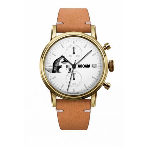 腕時計 メンズ レディース ムーミン モランThe Groke UNDONE X 送料無料 【SEIKOムーブメント搭載 クォーツ ケース ゴールド カーフ サンド】