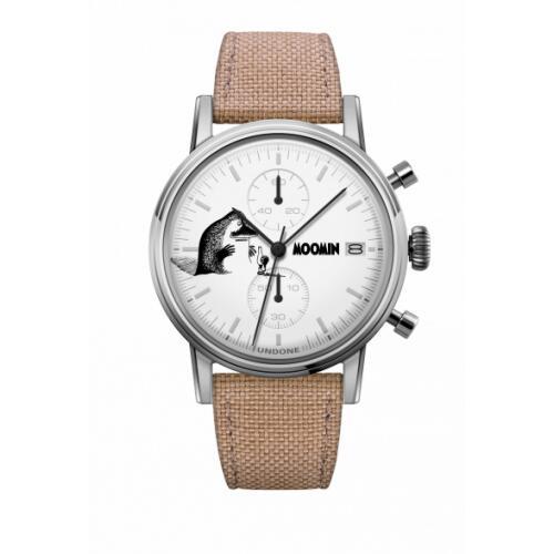 腕時計 メンズ レディース ムーミン モランThe Groke UNDONE X 送料無料 【SEIKOムーブメント搭載 クォーツ ケース シルバー コーデュラ サンド】