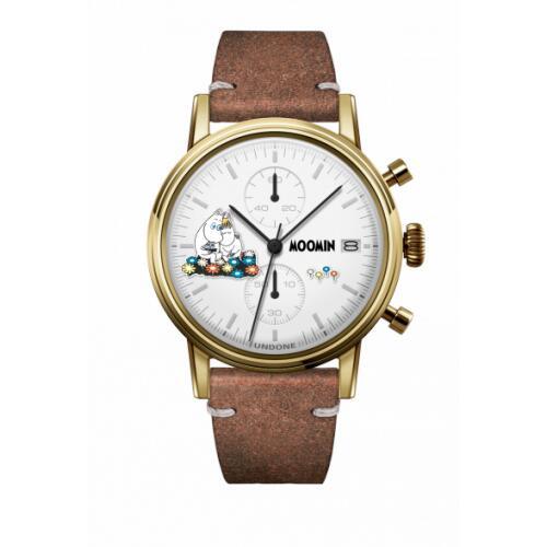 腕時計 メンズ レディース ムーミントロール&スノークのおじょうさん UNDONE X 送料無料 【SEIKOムーブメント搭載 クォーツ ケース ゴールド ヴィンテージ ブラウン】