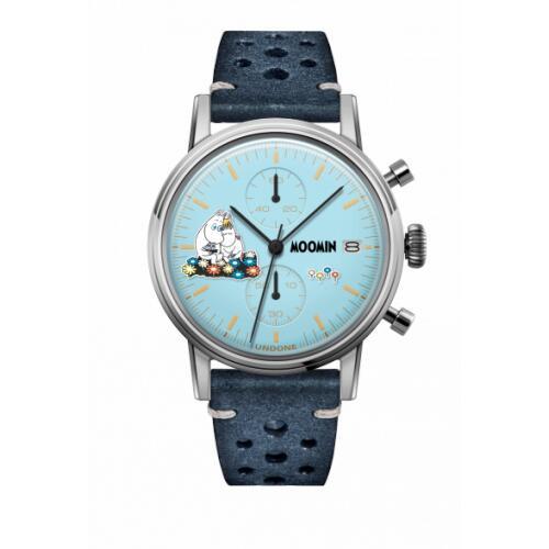 腕時計 メンズ レディース ムーミントロール&スノークのおじょうさん UNDONE X 送料無料 【SEIKOムーブメント搭載 クォーツ ケース シルバー ラリー ブルー】