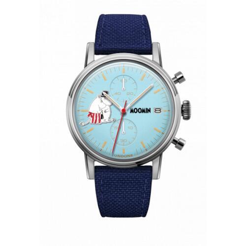 腕時計 メンズ レディース ムーミン パパ&ママ UNDONE X 送料無料 【SEIKOムーブメント搭載 クォーツ ケース シルバー コーデュラ ブルー】