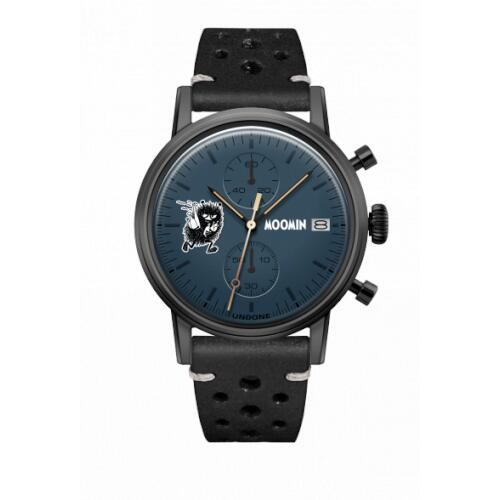 腕時計 メンズ レディース ムーミン スティンキー UNDONE X 送料無料 【SEIKOムーブメント搭載 クォーツ ケース ブラック ラリーブラック】