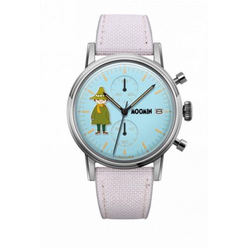 腕時計 メンズ レディース ムーミン スナフキン UNDONE X 送料無料 【SEIKOムーブメント搭載 クォーツ ケース シルバー コーデュラ オフホワイト】