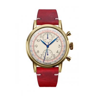 UNDONE アンダーン URBAN Killy キリー 腕時計 【ゴールドフレーム メカクォーツ カーフレザーベルト レッド】