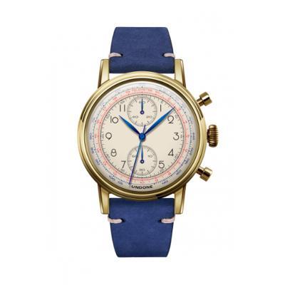 UNDONE アンダーン URBAN Killy キリー 腕時計 【ゴールドフレーム メカクォーツ カーフレザーベルト ブルー】