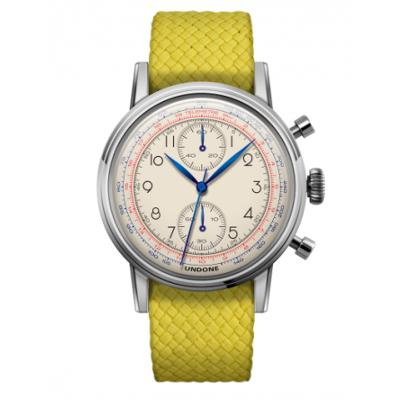 UNDONE アンダーン URBAN Killy メカクォーツ 腕時計 【ステンレスフレーム パーロンベルト イエロー】