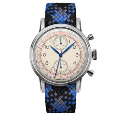 UNDONE アンダーン URBAN Killy メカクォーツ 腕時計 【ステンレスフレーム パーロンベルト ブルーブラックグレー】