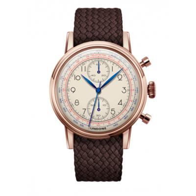 UNDONE アンダーン URBAN Killy メカクォーツ 腕時計 【ローズゴールド パーロンベルト ブラウン】