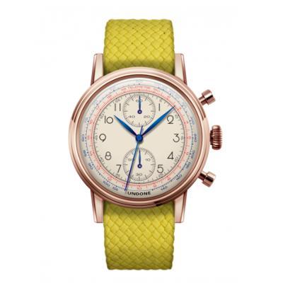 UNDONE アンダーン URBAN Killy メカクォーツ 腕時計 【ローズゴールド パーロンベルト イエロー】