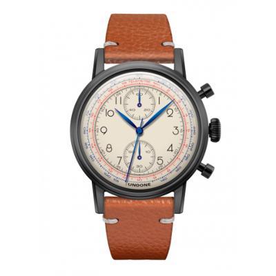 UNDONE アンダーン URBAN Killy メカクォーツ 腕時計 【ブラックPVDコーテング キャビアベルト ブラウン】
