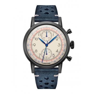 UNDONE アンダーン URBAN Killy メカクォーツ 腕時計 【ブラックPVDコーテング ラリーベルト ブルー】