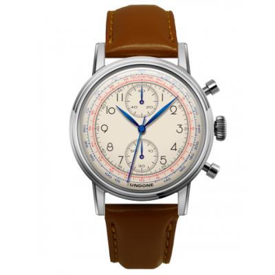 UNDONE アンダーン URBAN Killy メカクォーツ 腕時計 【ステンレスシルバー マツサカレザーベルト ライトブラウン】