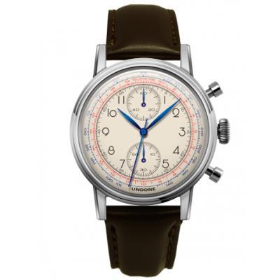 UNDONE アンダーン URBAN Killy メカクォーツ 腕時計 【ステンレスシルバー マツサカレザーベルト ダークブラウン】