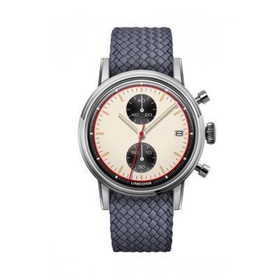 UNDONE URBAN NEWMANメカクォーツ 腕時計 【 ステンレス パーロンベルト グレー】